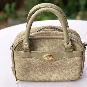 Via Prima Tan VP Canvas Satchel